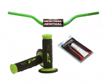 New Renthal Fat bar Handlebars Green Pro Grips Renthal Grip Glue Combo 604 Bars